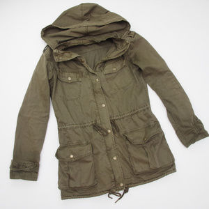 Aritzia Talula Trooper Jacket Anorak Olive Green